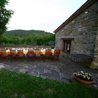 Dinner table at Locanda