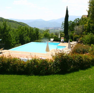 The pool at Locanda Del Gallo