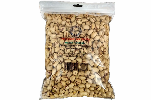 Pistachio Nuts Fandoghi Raw Plain & UnRoasted in Shell 30/32 Pack of 1kg
