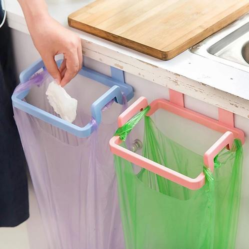 Trash Rack Storage Garbage Bag Holder Cupboard Door Back Kitchen Garbage