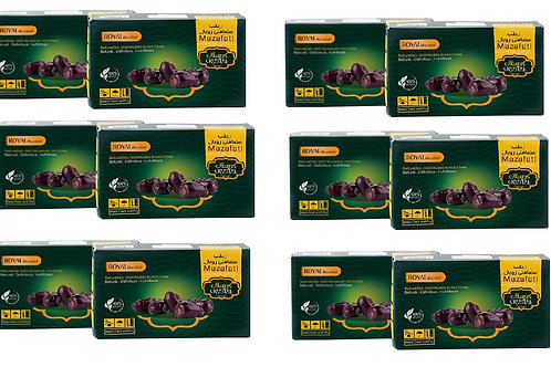 Mazafati Dates Pack of 12 by 600  Grams per Pack