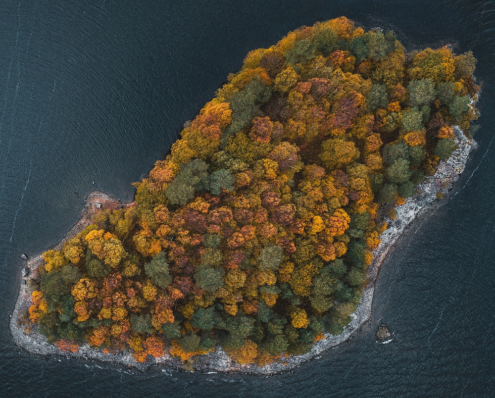 Drone shot of Deergarth Island