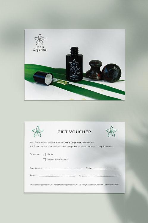 Gift Voucher Dee's Organics Treatments