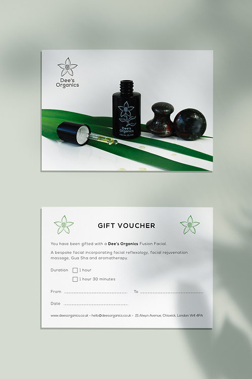 Gift Voucher Fusion Facial - 60 or 90 minutes