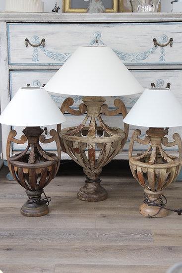 Lampes vase ajourées