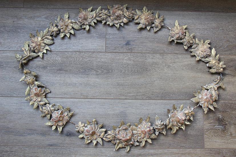 Paire de guirlandes fleuries