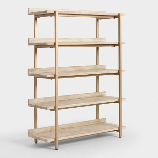 World Market | Driftwood Cristela Bookshelf