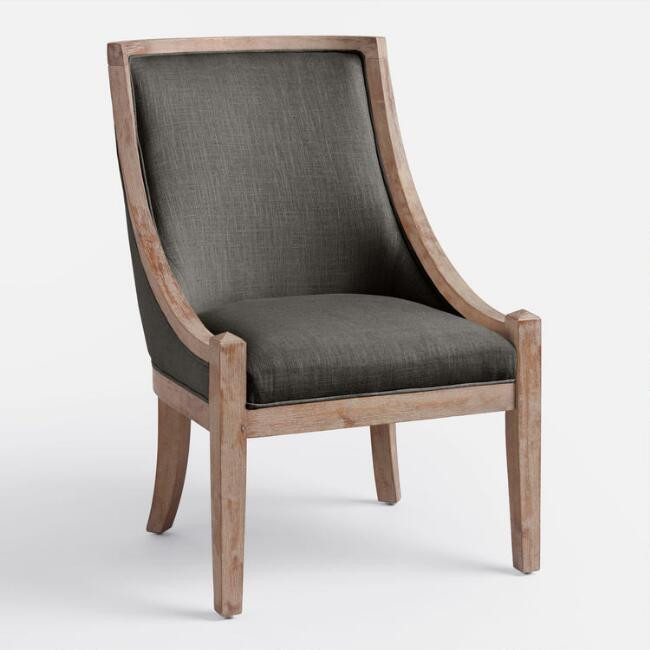 World Market | Charcoal Henry High Back Accent Chair