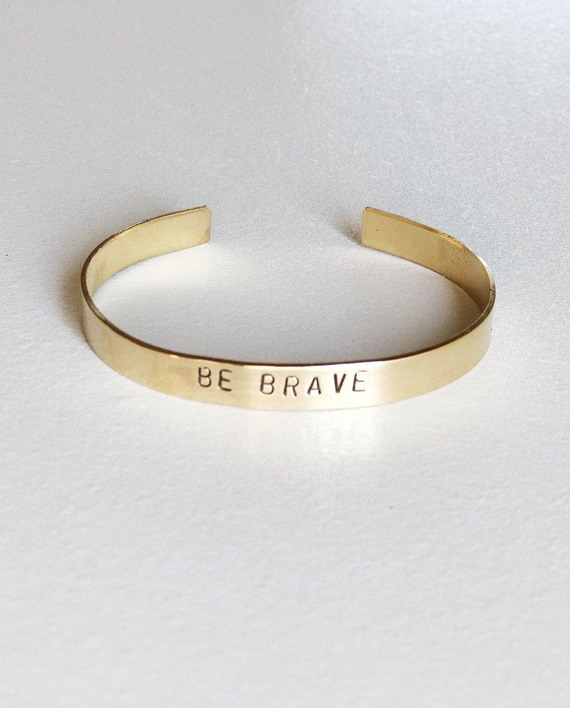 Sevenly - BE BRAVE Hand-Stamped Brass Cuff