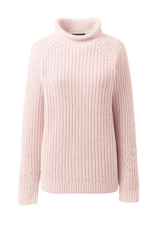 Lands' End | Women's Cozy Lofty Shaker Roll Neck Sweater