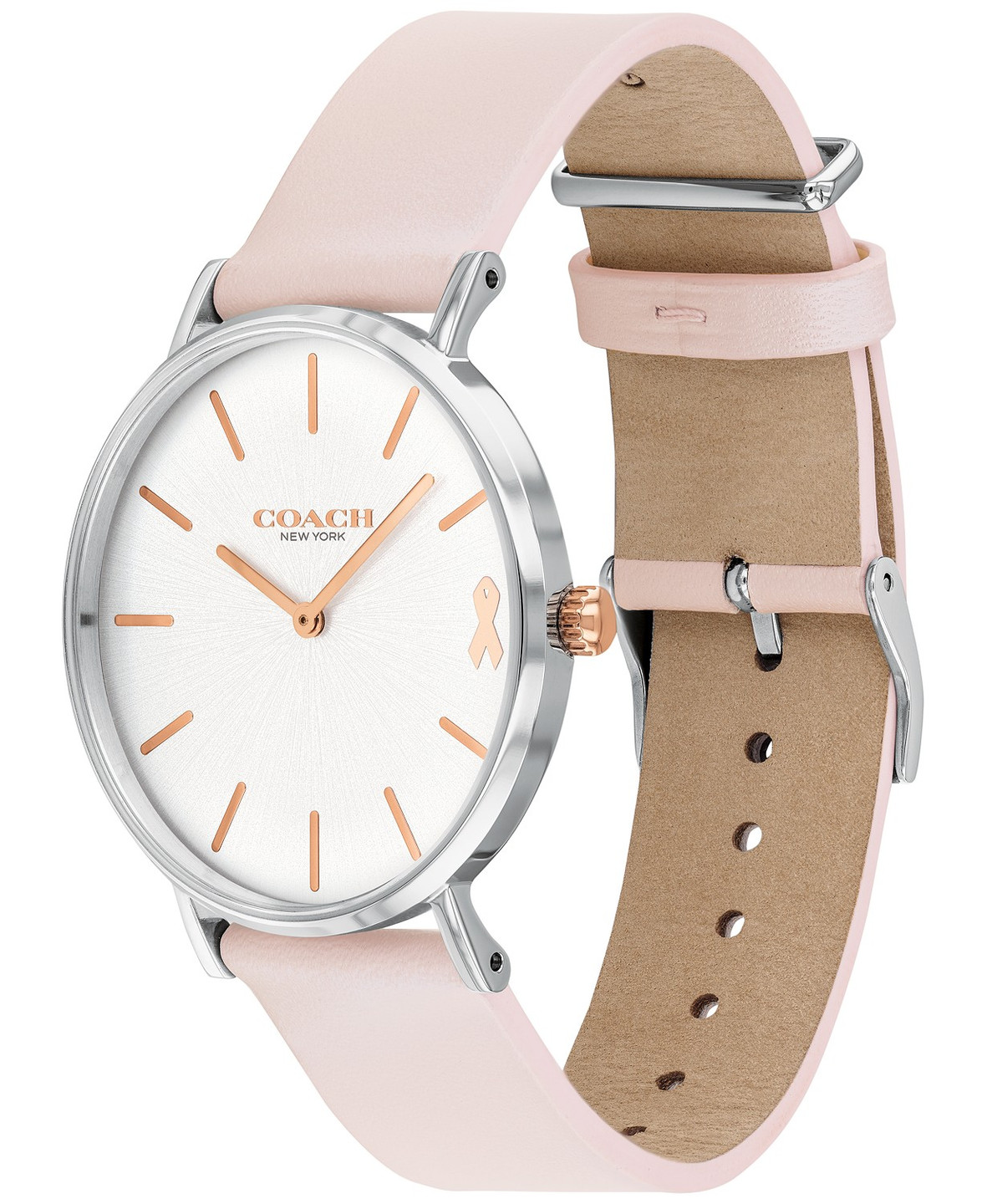 COACH |  Women's Perry Created for Macy's Ice Pink Leather Strap Watch 36mm
