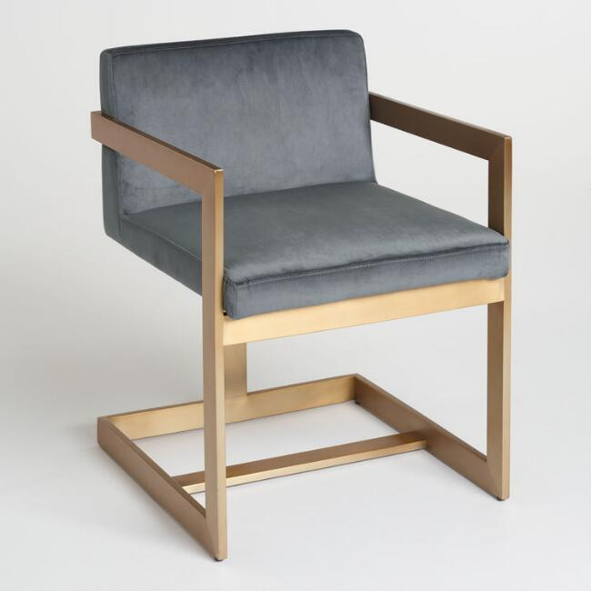 World Market | Charcoal And Gold Kiera Chair