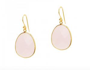Jemma Sands | Mustique Rose Quartz Earrings