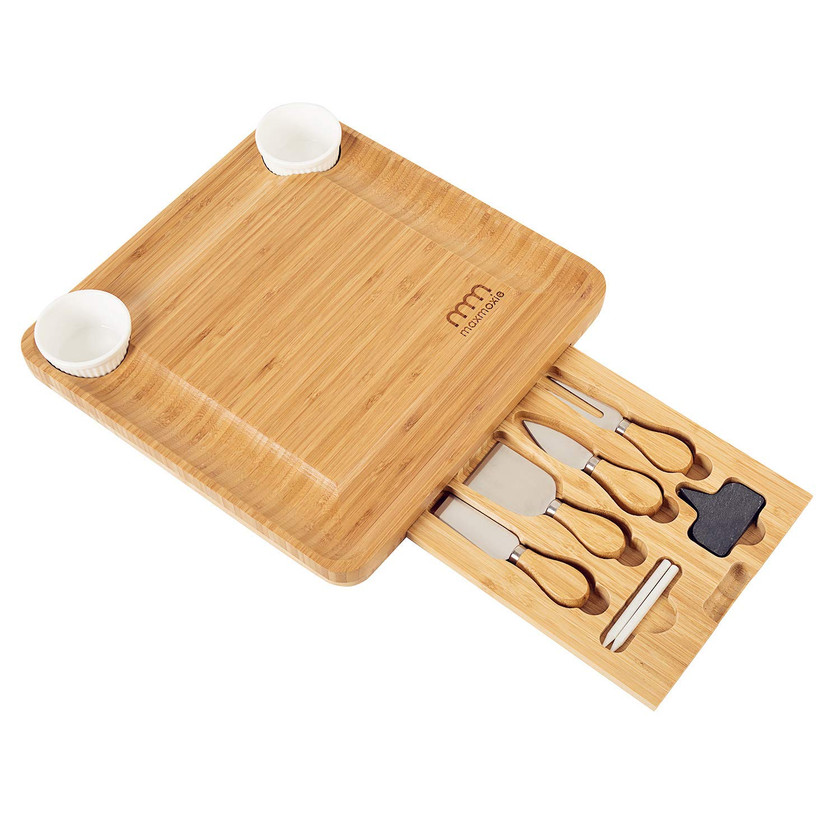 Amazon | Bamboo Cheese Board Set With 10 Tools