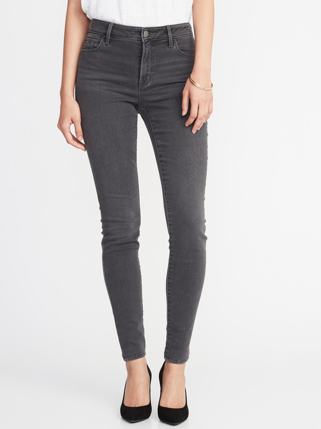 Mid-Rise Built-In Warm Rockstar Super Skinny Jeans for Women