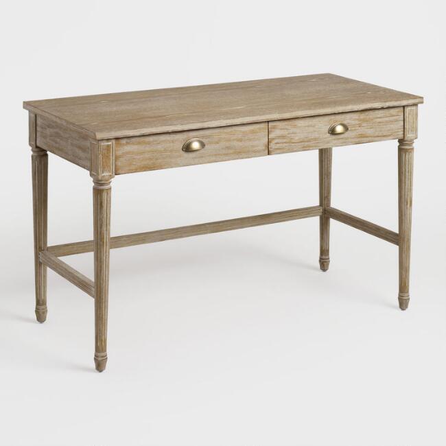 World Market | Brown Distressed Wood Paige Desk