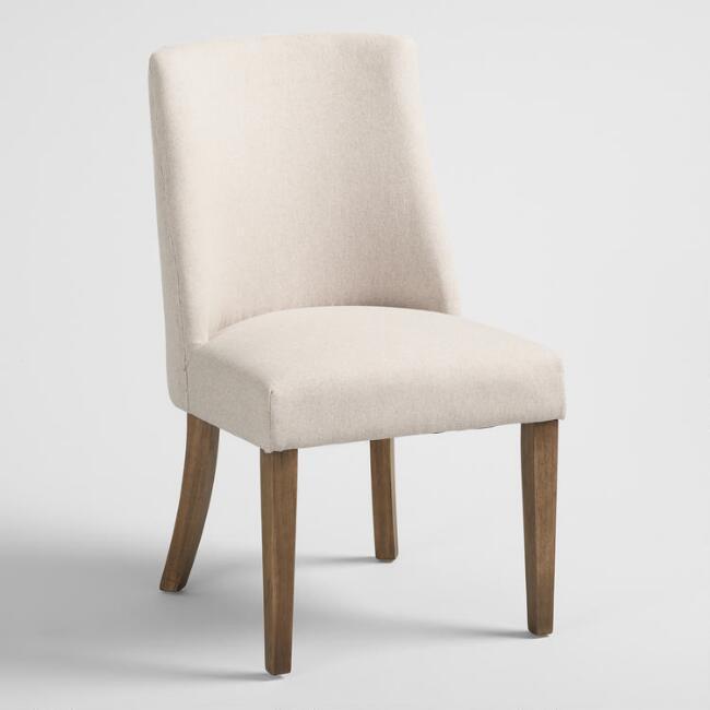 World Market  Natural Upholstered Lisette Dining Chair Set Of 2
