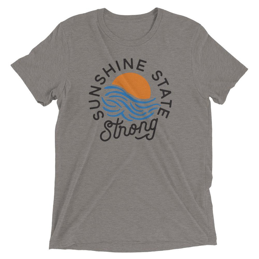 Sunshine State Goods | Sunshine State Strong Tee Heather Grey