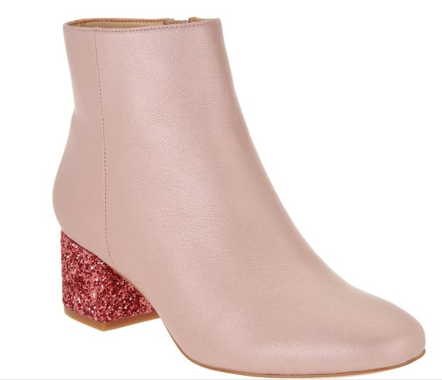 Katy Perry | Pink Glitter Block Heel Bootie - Farrar