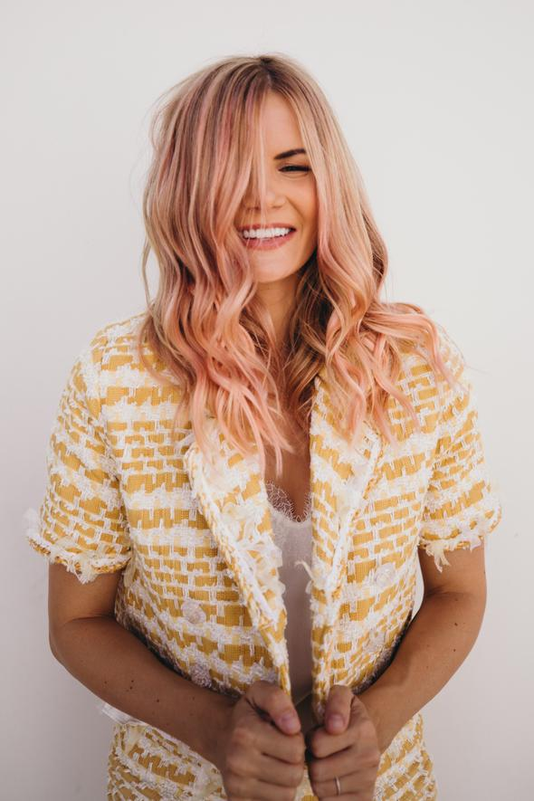 Barefoot Blonde Hair | Breast Cancer Awareness Fill-Ins