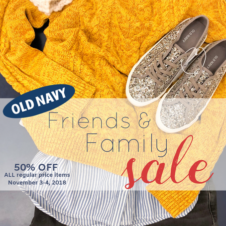 OLD NAVY November Try-On   Friends & Family SALE 50% OFF
