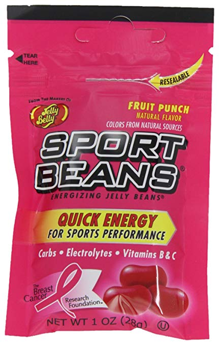 Jelly Belly | Sport Beans - Fruit Punch Energizing Jelly Beans, 1-Ounce Bags (Pack of 24)