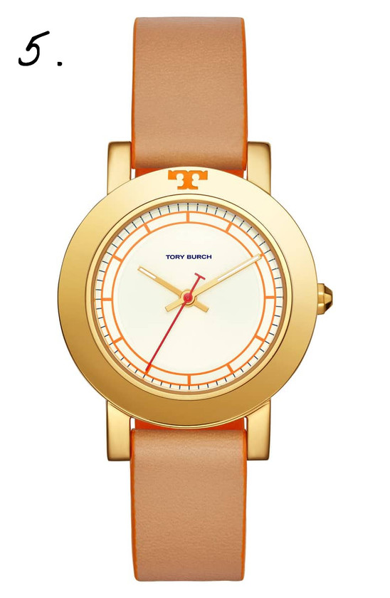 Nordstrom | Tory Burch Ellsworth Leather Strap Watch