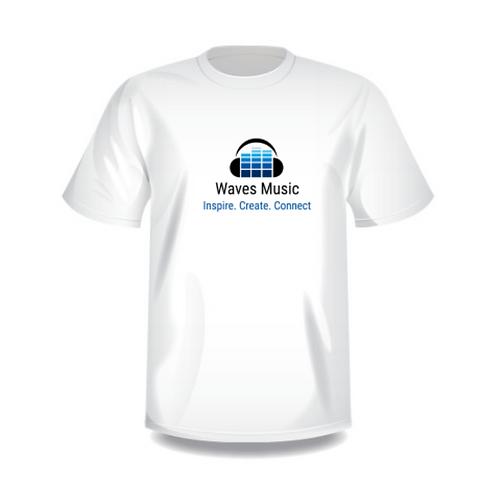 Waves Music T-Shirt