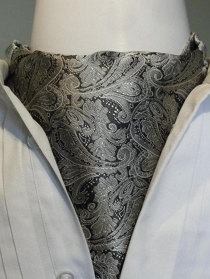 Cravat - Silver Grey Paisley