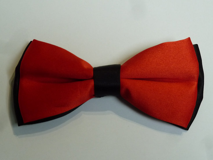 Bowtie - Red on Black