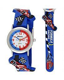 Time Teacher Watch - Cars F1 in Blue