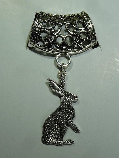 Scarf Pendant - Hare