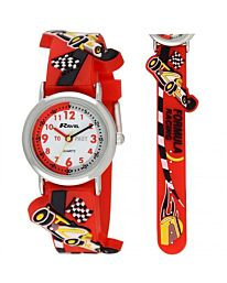 Time Teacher Watch - Cars F1 in Red