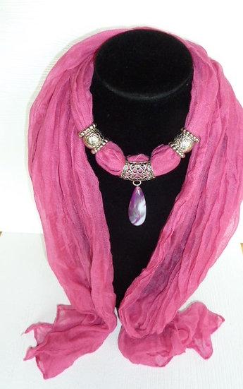 Crinkle Set - Hot Pink Agate