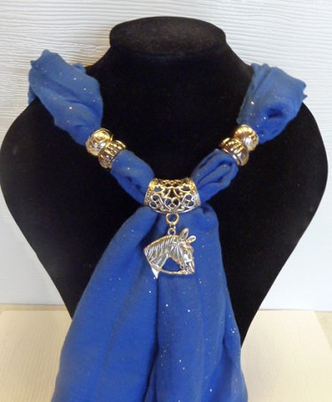 Sparkle Scarf, Pendant & Side Décor Ring Set