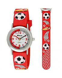 Time Teacher Watch - Football in Red
