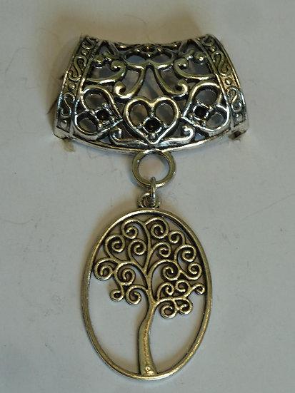 Scarf Pendant - Oval Tree of Life