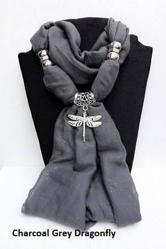 Sparkle Set - Charcoal Grey Dragonfly