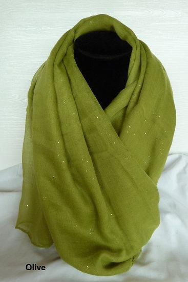Sparkle Scarves - Greens