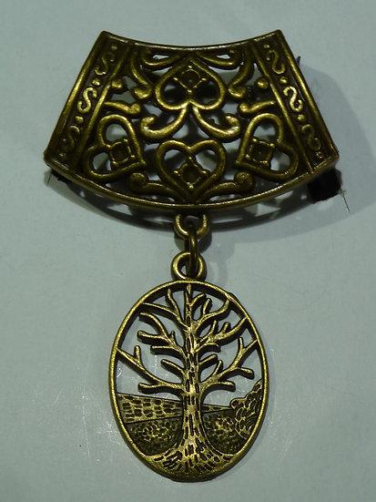 Scarf Pendant - Bronze Tree of Life