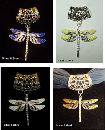 Scarf Pendant - Dragonfly