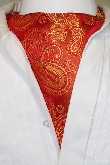 Cravat - Large Paisley Burnt Orange