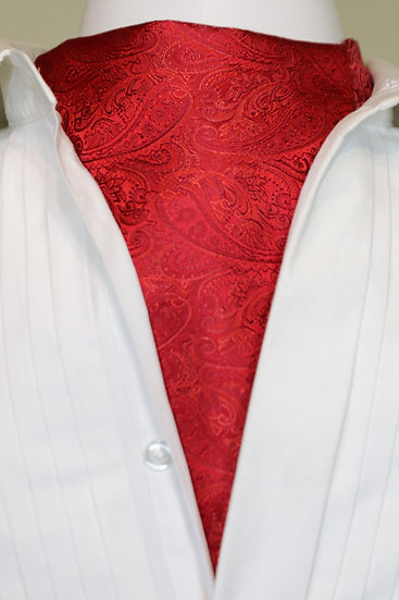 Cravat - Small Paisley in Red