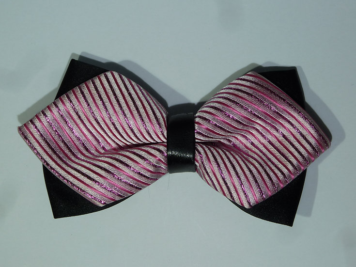 Bow Tie - Pink Stripe Points