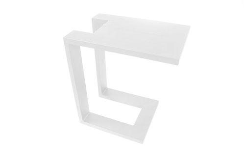 Lounge Beistelltisch U-Table white