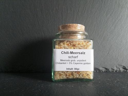 Chili-Meersalz - Cayenne golden - scharf, 80gr.