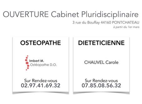Nouveau cabinet d'ostéopathie Pontchâteau