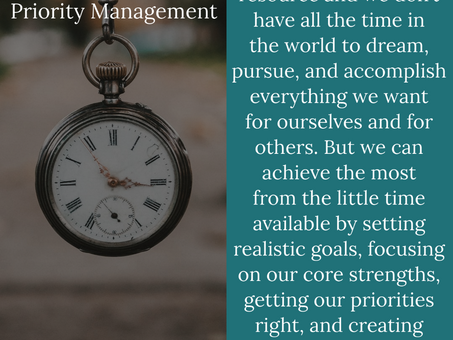 The 4 D's of Priority Management: Focusing on What Matters the Most