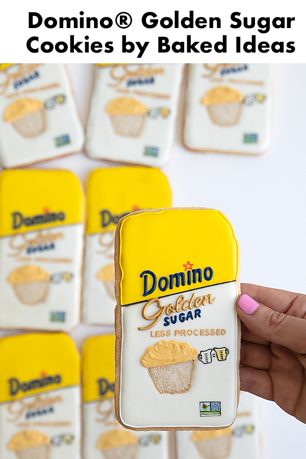 I love the retro look of the new Domino® Golden Sugar bag! Learn how I made these cookies. #Sponsored #BakeWithGolden #GoldenSugar #DominoGoldenSugar