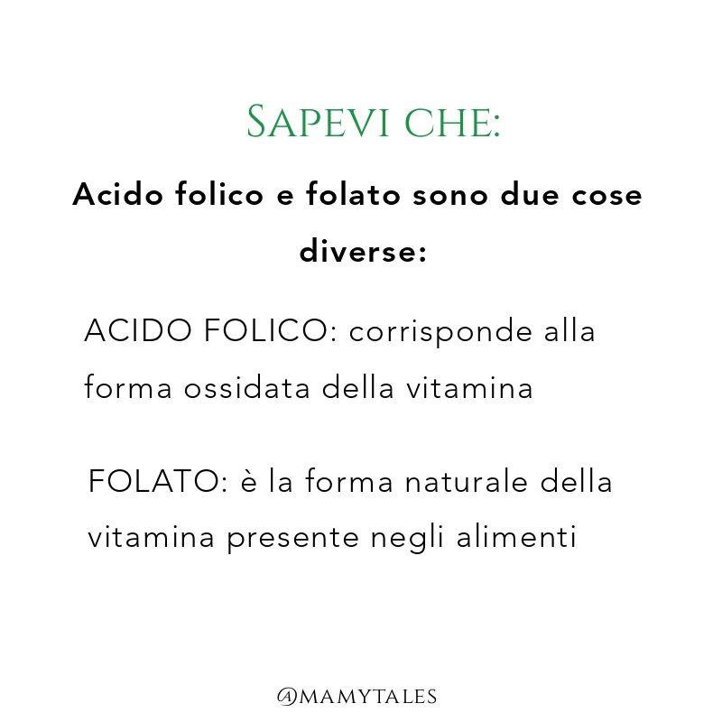 Acido folico e folato gravidanza